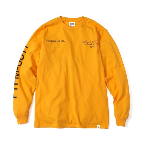 See Me Now L/S T-Shirts (Yellow)¥8,000(+tax)