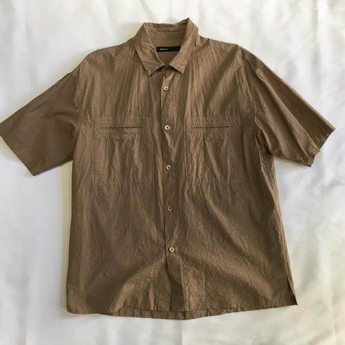 08sircus Compact lawn garment dyed shirt