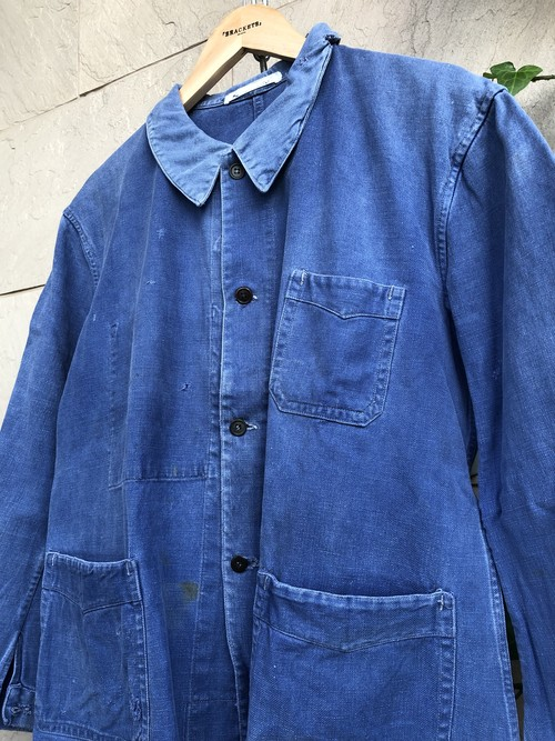 1940-50s French blue cotton work  jacket