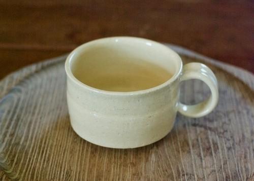 広口コーヒーカップ(白橡釉)