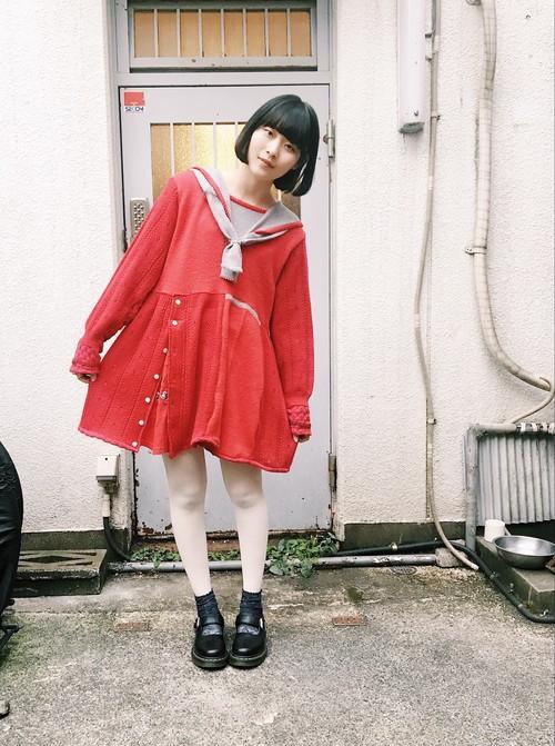 """mavui"" sailor knit dress"