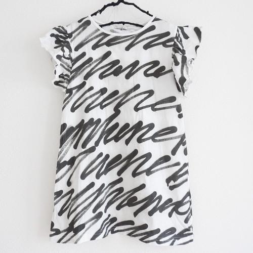 H/W BACK RIBBON FRILL DRESS / WOMEN