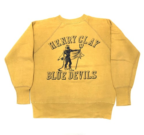 50's BLUE DEVILS Flock Print SWEAT フロッキープリント ヴィンテージ スウェット