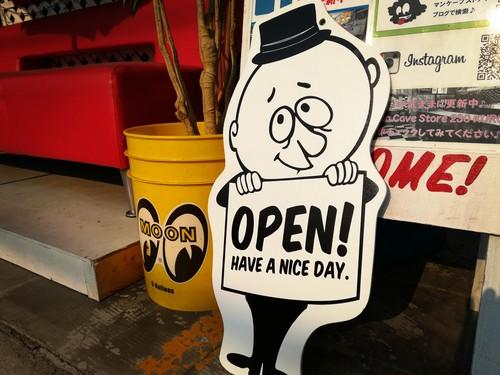 OPEN・CLOSE/オープンクローズサイン 「バーギー/Burgie」