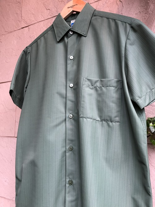 1960s British st.micheal S/S nylon shirts green