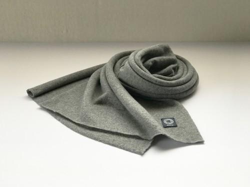 カシミヤスマフラー【 Pure cashmere muffler M/Gray 】