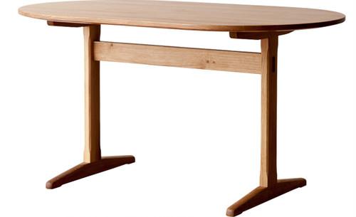 aテーブル(楕円) 小樽オーク W1500
