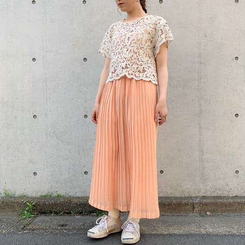 (LOOK) lace s/s tops