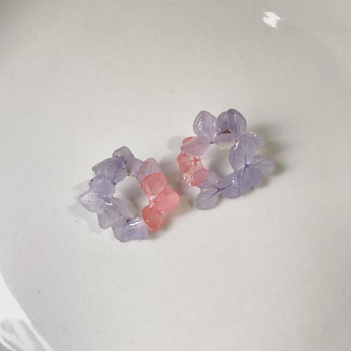 紫陽花リースイヤリング