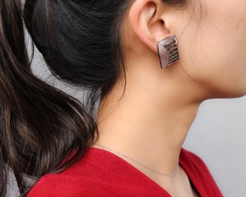 dead stock silver tone earrings