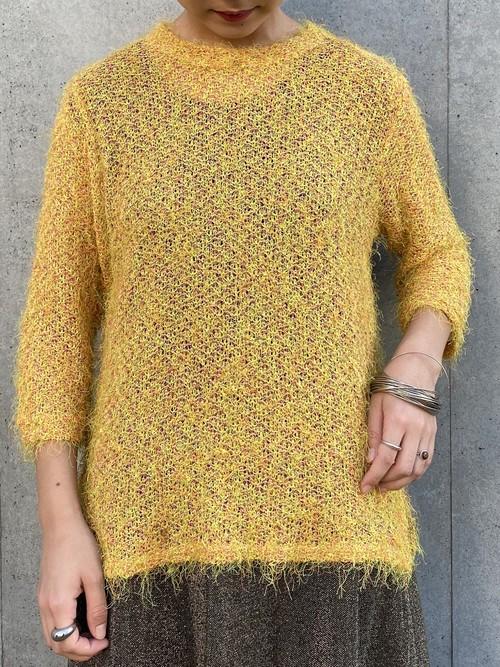 (TOYO) s/s shaggy knit tops