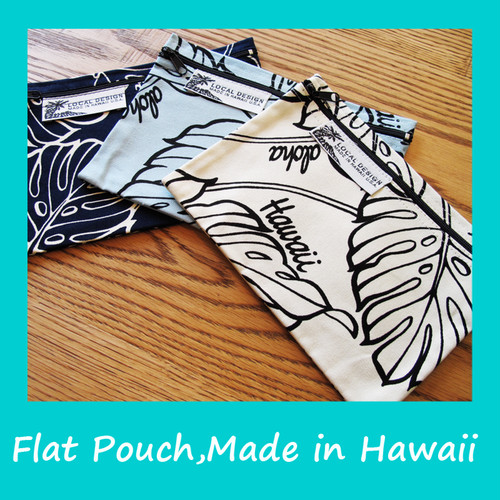 ハワイ買い付け! フラットポーチ Made in Hawai'i