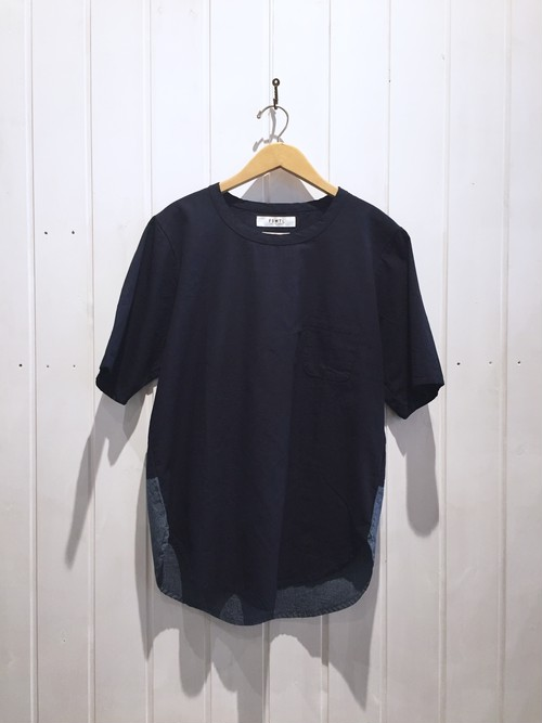 FDMTL INDIGO LONG PULL SHIRT