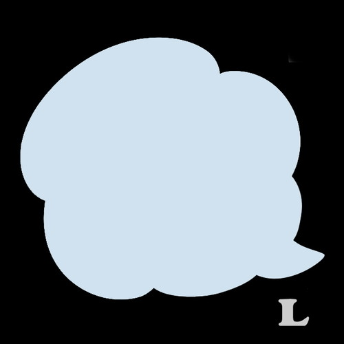 ふきだしB-1(L)★ライトブルー