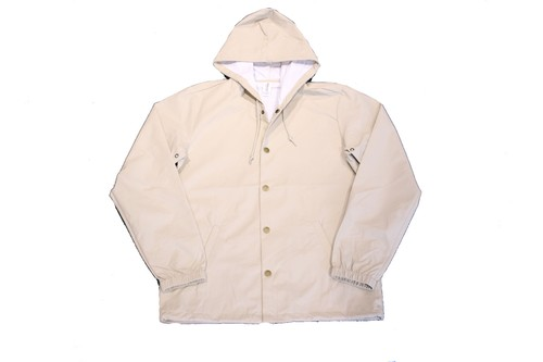 INDEPENDENT TRADING Water Resistant HOOD COACHE JACKET OFF WHITE