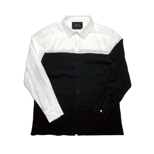 ILL IT  - TOOTH TRUTH GAUZE SHIRT (BLK×WHT) -