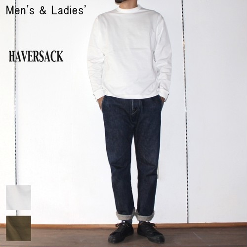 HAVERSACK 高密度コットンプルオーバーT Highdensity Cotton Pullover 411722 (WHITE)