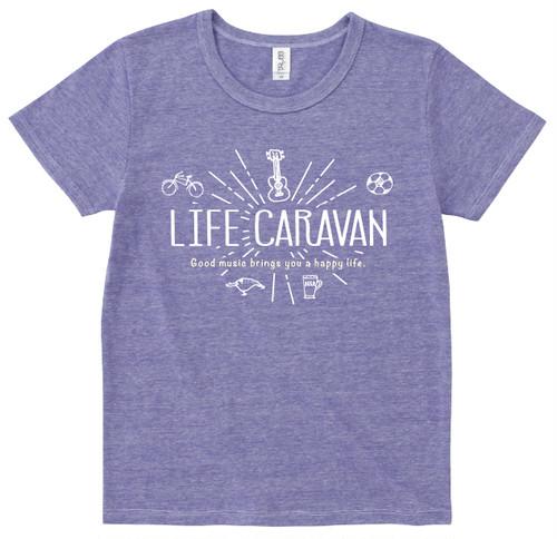 LIFE CARAVAN Tシャツ(パープル)