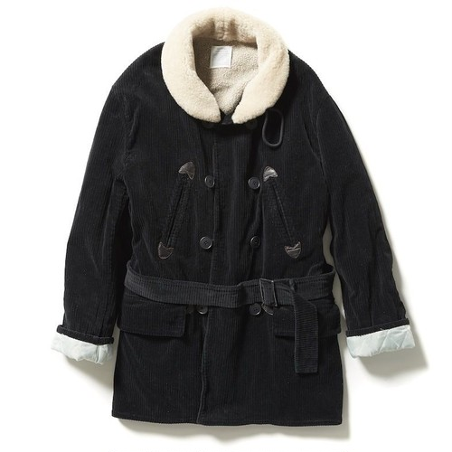 【FILL THE BILL】CORDUROY CAR COAT - BLACK