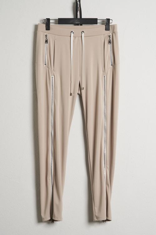 2Pocket 2ZIP Jersey Pants / Beige [21SS COLLECTION]