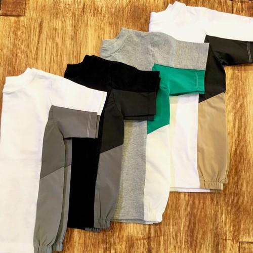 SUPERTHANKS (スーパーサンクス) CHANGE KIDS T-SHIRT 切替配色 Tシャツ