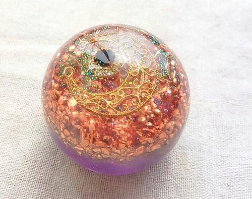 ボール型オルゴナイト(パープル)