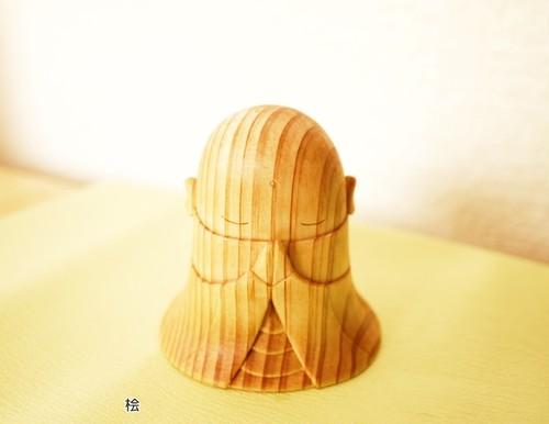 【木彫りの置物】おじぞうさま