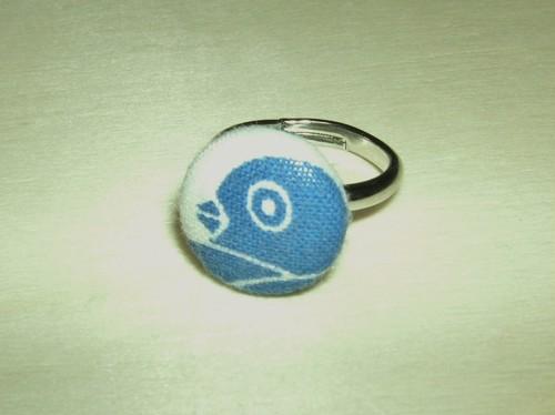 「雁金の家紋」柄の指輪