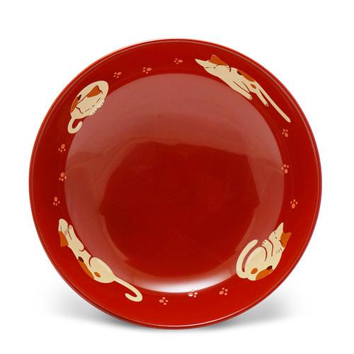 手塩皿4.0洗朱ねむる猫(56)