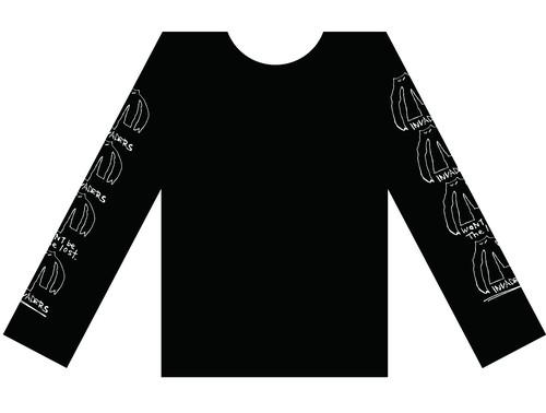 【予約割引】スリーブインベーダ ロングスリーブTシャツ
