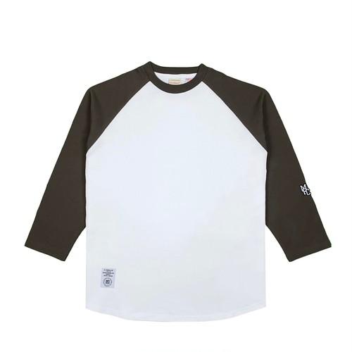 MFC STORE x Goodwear 7L RAGLAN TEE / WHITE x BROWN