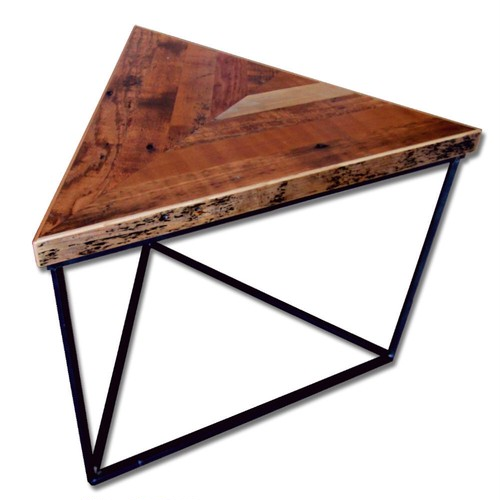"<Out of Stock>   Reclaimed Table ""Tritop"" -Chevron-"