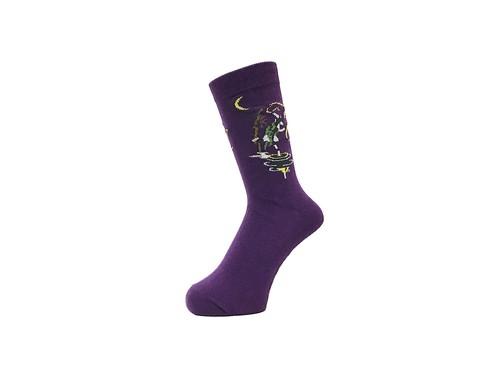 WHIMSY - 32/1 AME SOCKS (Purple)
