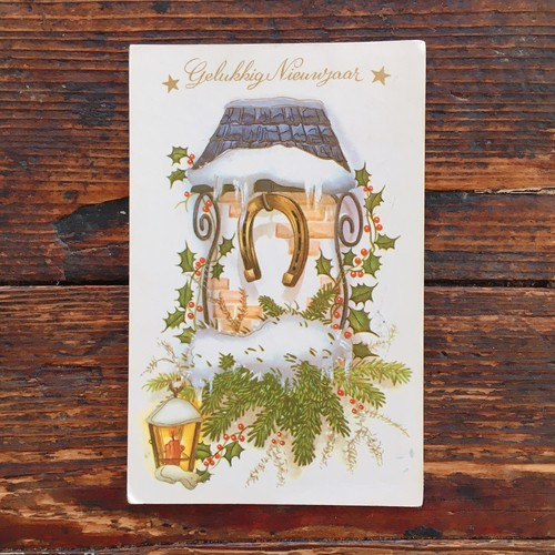 Antique christmas postcard 1965's
