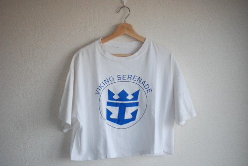 【WOMEN'S】USED 90's Crop T-shirt