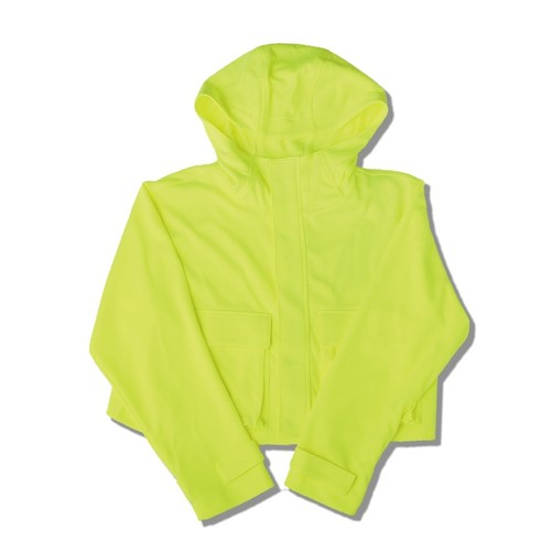 SHORT JERSEY MOUNTAIN PARKA / NEON YELLOW