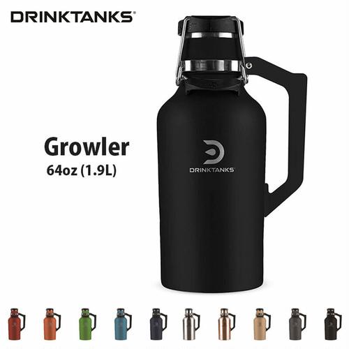 【2019 New models】 DrinkTanks(ドリンクタンクス) 64oz (1.9L) Growler G-20-64 ドリンクタンク グラウラー クラフト ビール 炭酸 OK 保冷缶 アウトドア キャンプ ◆送料無料◆