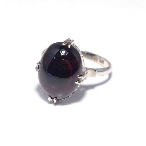 Vintage Japanese Ring - K14WG Garnet Color #11
