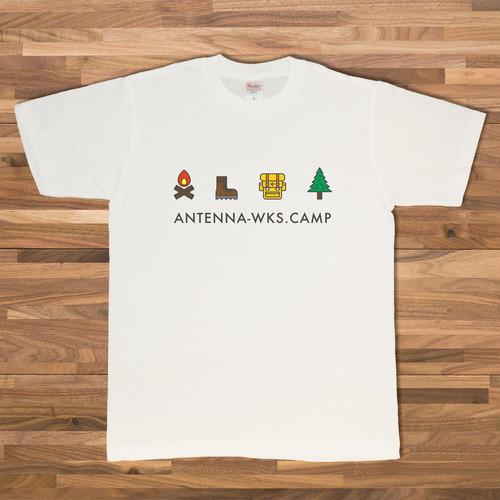 CAMPアイコン Tシャツ/ホワイト【CWE-001WH】