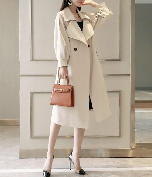 大人カジュアル トレンチコート 春コート カジュアル ロング丈 コート 大きいサイズ レディース 春夏 アウター