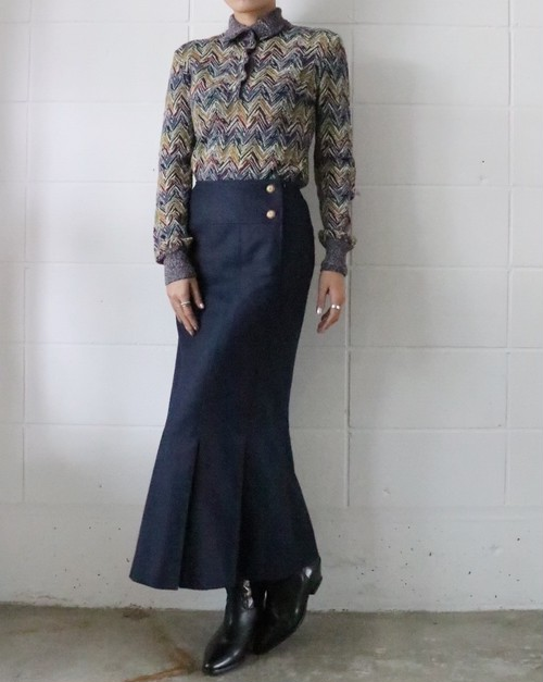 Chanel navy Mermaid skirt