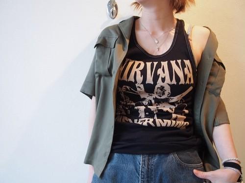Rockリブタンクトップ 〝nirvana〟