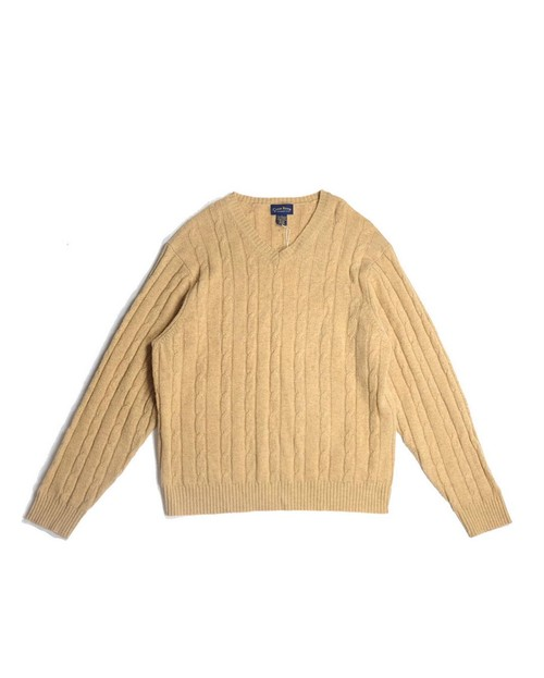 v-neck lambs wool knit