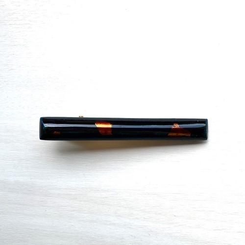 飛騨春慶塗 ヘアクリップ 青箔(HC013)