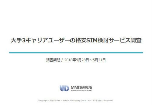 【MMD研究所自主調査】大手3キャリアユーザーの格安SIM検討サービス調査