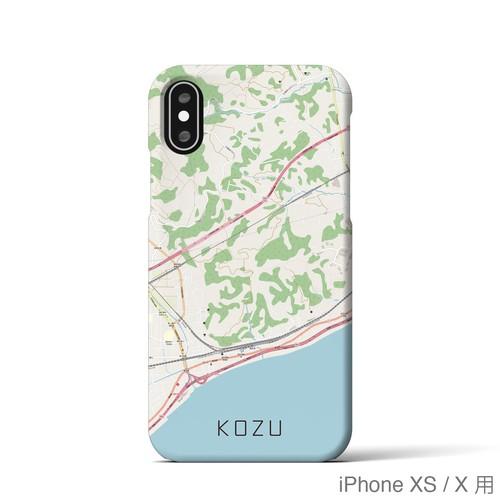 【国府津】地図柄iPhoneケース(ナチュラル)