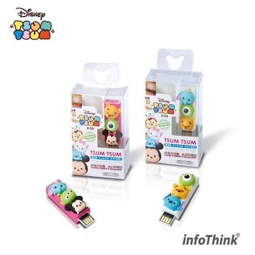 InfoThink USBメモリ Disney ディズニー ツムツム USBフラッシュドライブ 8GB USB-100(TSUM)8GB