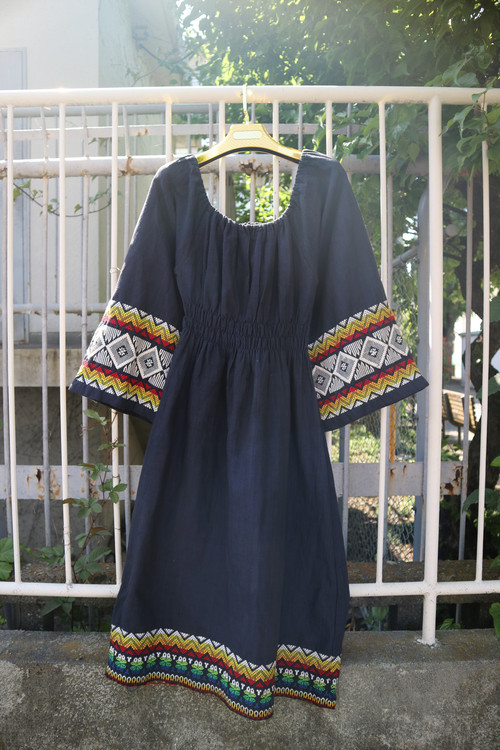 Embroidered black Afghan onepiece