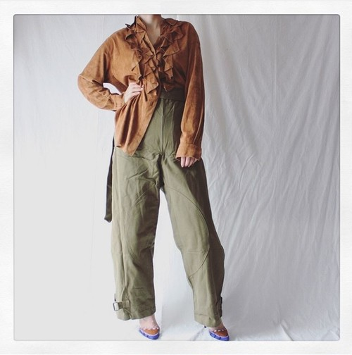 40's - 50's French Army Motorcycle Pants Deadstock
