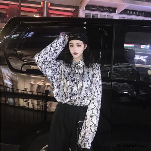 【トップス】ストリート花纹カジュアルシャツ22170523
